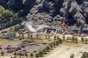 Así fue la explosión en una planta industrial de Illinois, EE.UU.