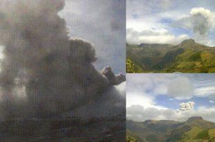 Reportan caída de cenizas en Manizales por inestabilidad del volcán Nevado del Ruiz